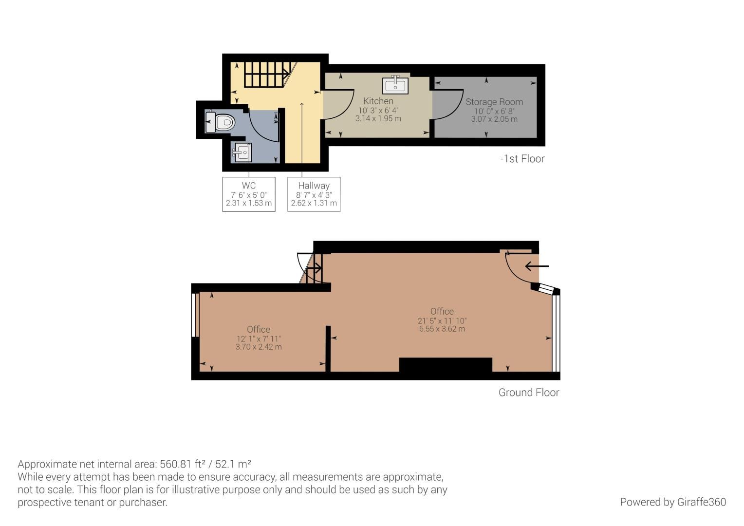 Office to rent in High Street - Property Floorplan
