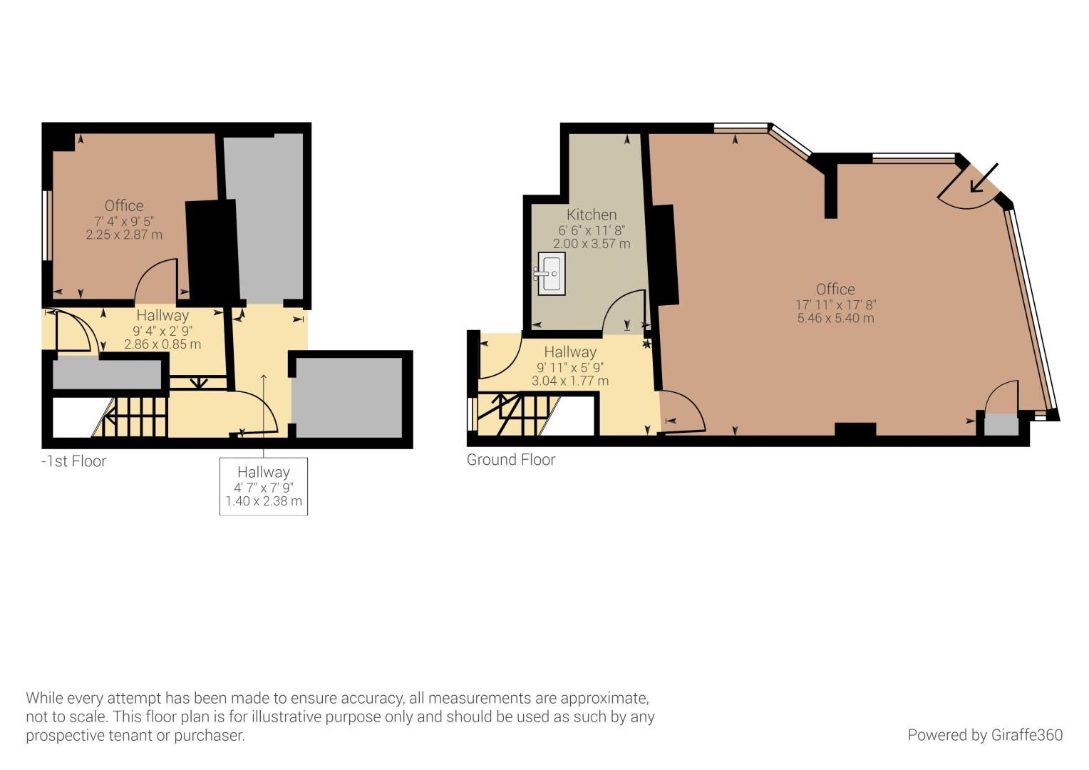 Office to rent in Manor Road - Property Floorplan