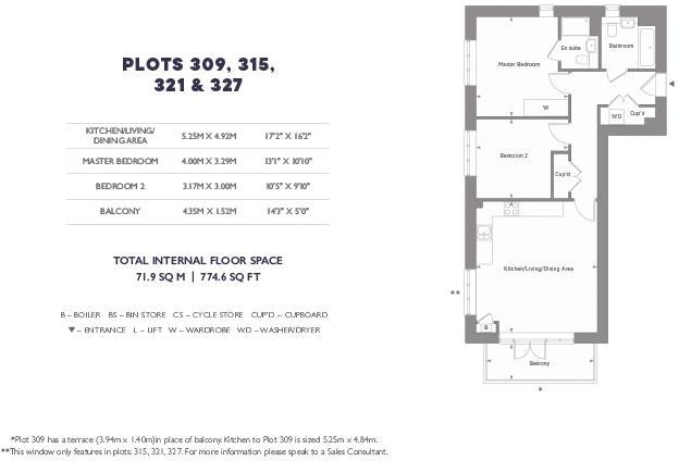 2 bed flat for sale in Cory's Road - Property Floorplan