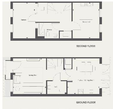 2 bed house for sale in Barrack Hill - Property Floorplan