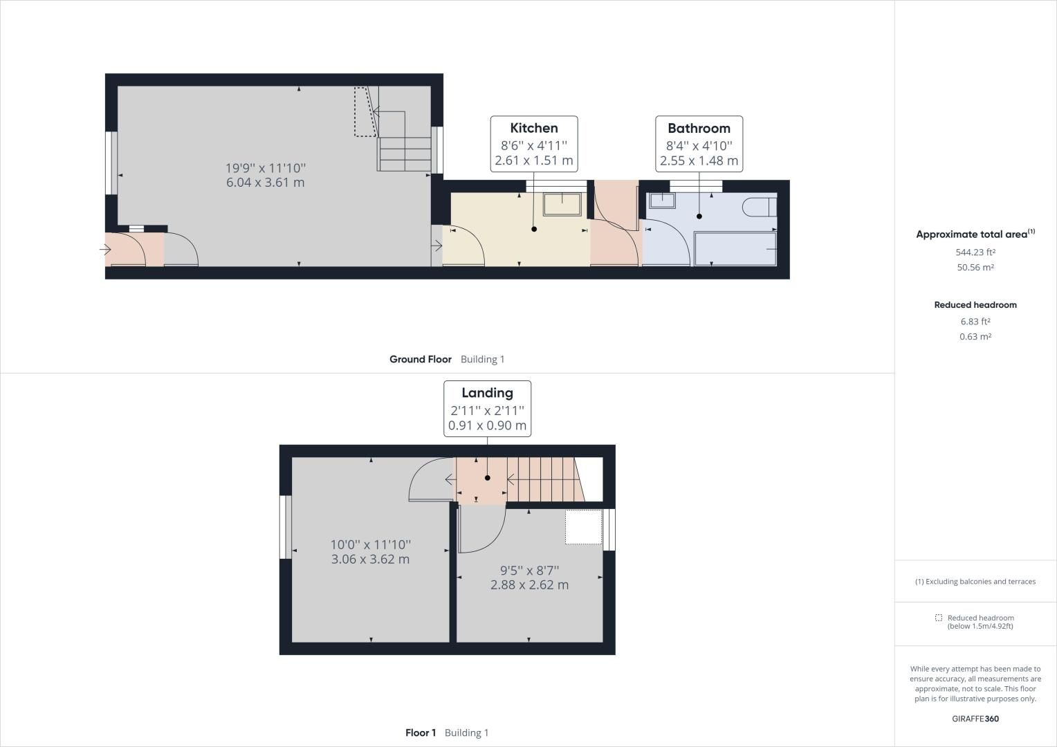 2 bed house to rent in James Street - Property Floorplan