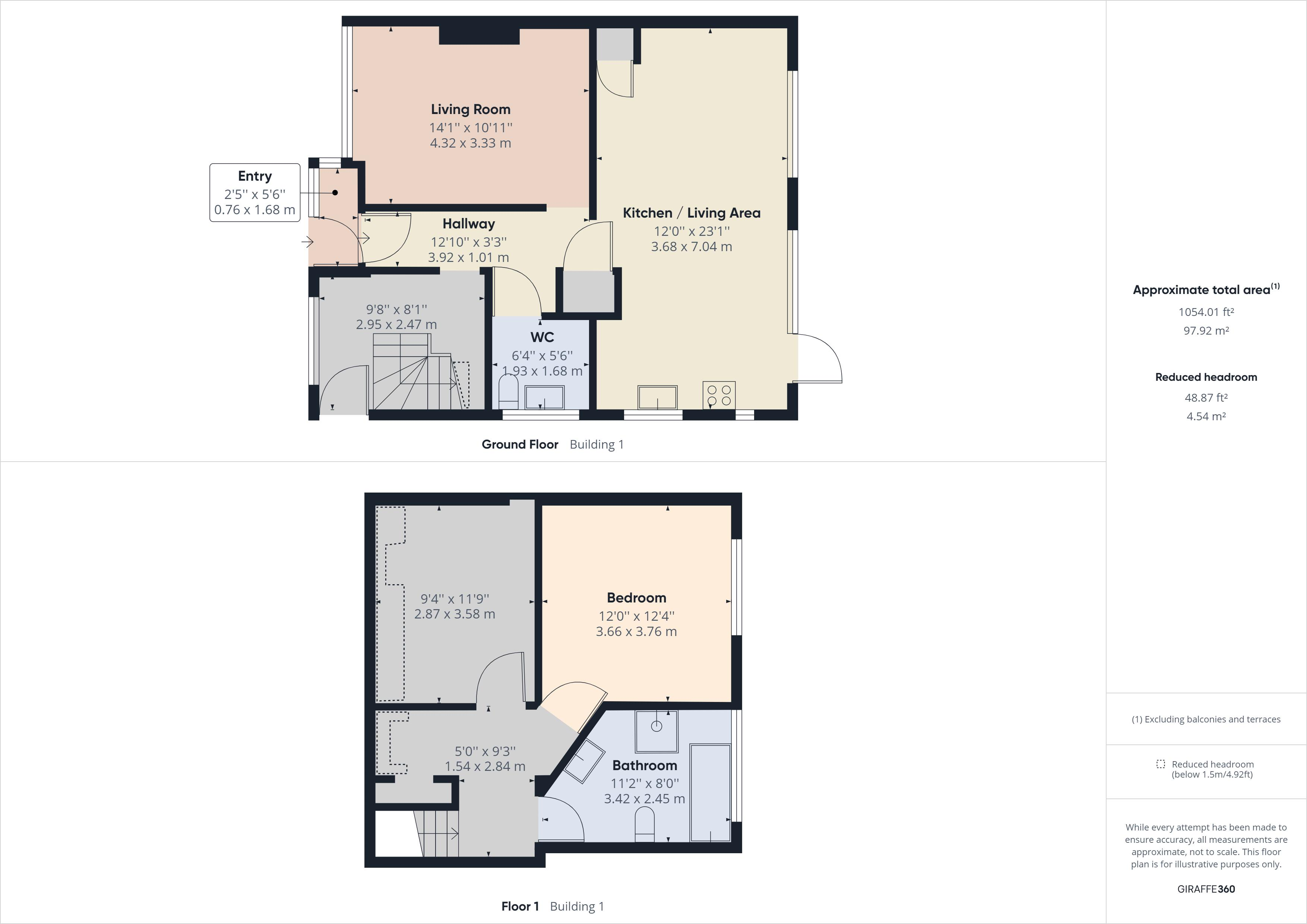 2 bed bungalow for sale in Carlton Cresent - Property Floorplan
