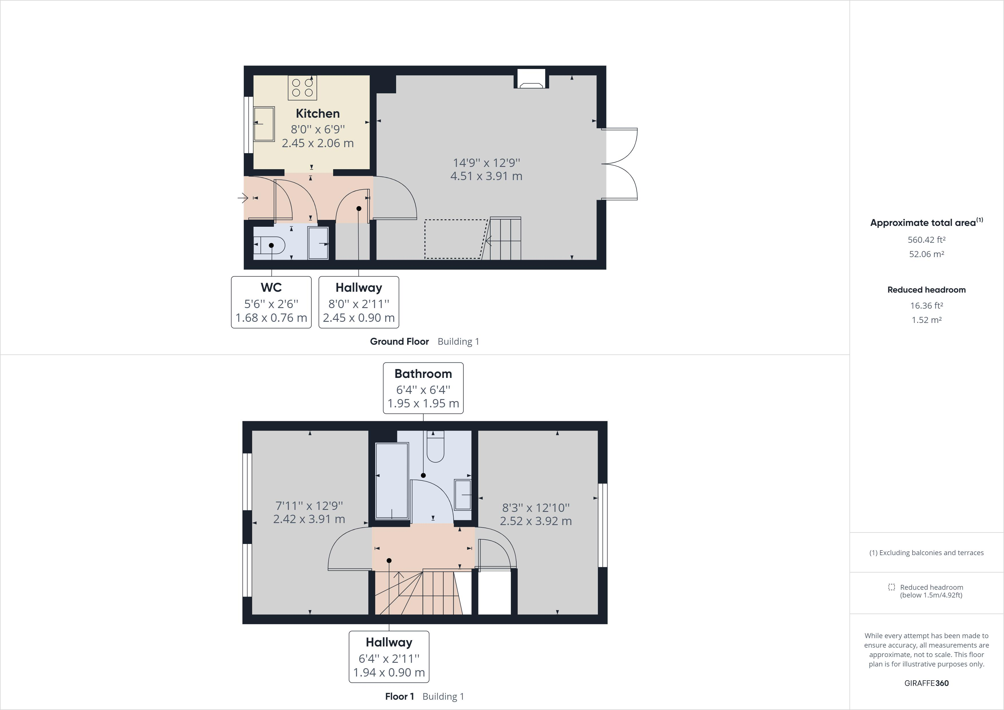 2 bed house to rent in Cheldoc Rise - Property Floorplan