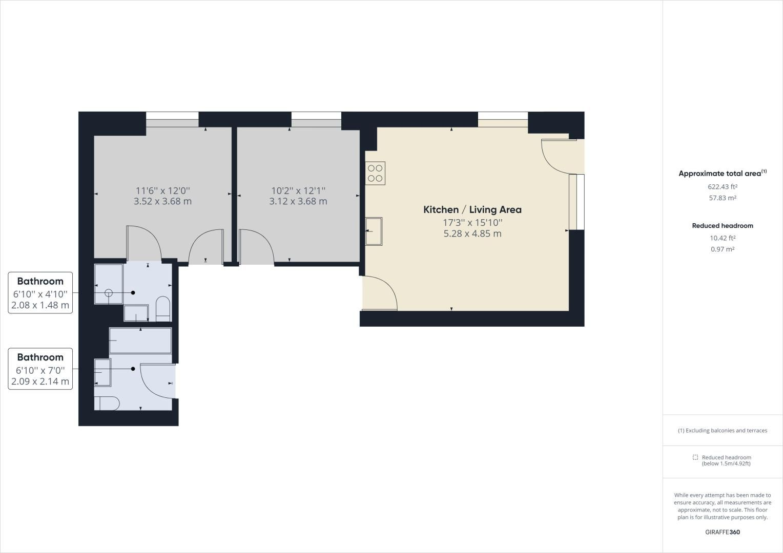 2 bed flat to rent in Corys Road - Property Floorplan