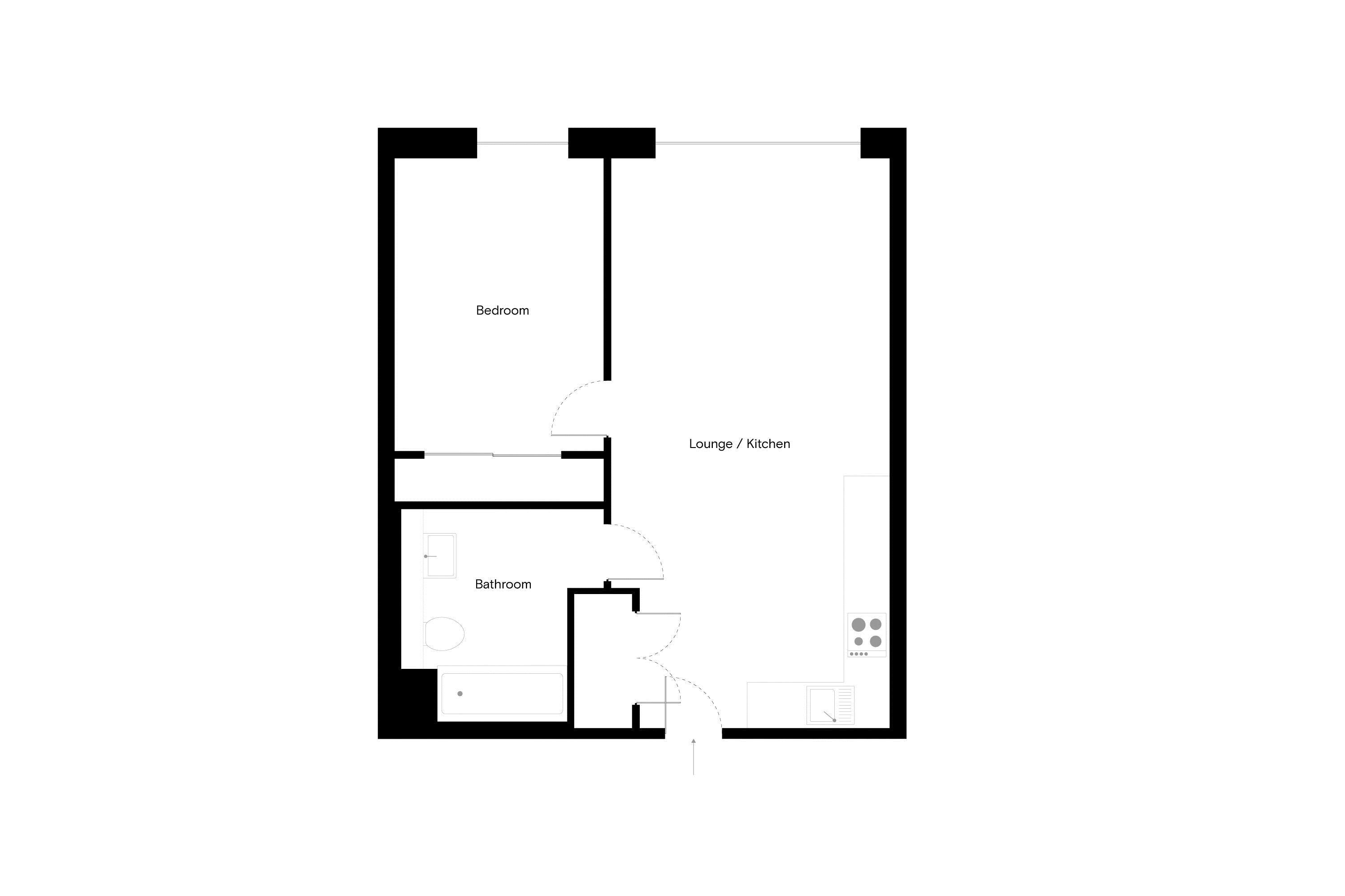 2 bed flat to rent in North Side Three Road - Property Floorplan