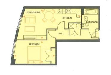 1 bed flat to rent in Marina Point West, Dock Head Road - Property Floorplan