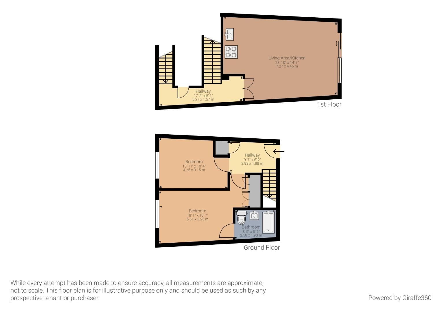 2 bed flat to rent in Barrier Road - Property Floorplan