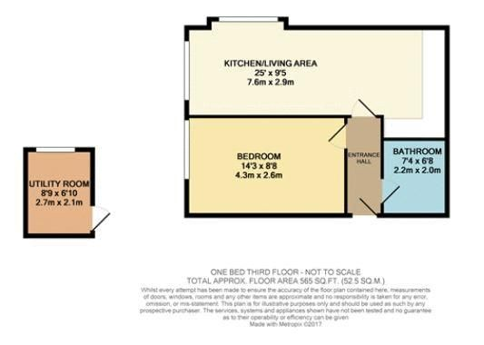 1 bed flat for sale in Bank Street - Property Floorplan