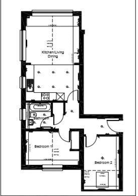 2 bed flat to rent in Rivermead - Property Floorplan