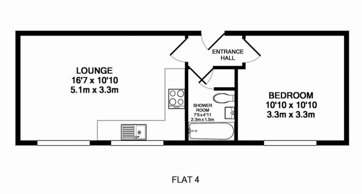 1 bed flat to rent in Friernhay Court, Friernhay Street - Property Floorplan