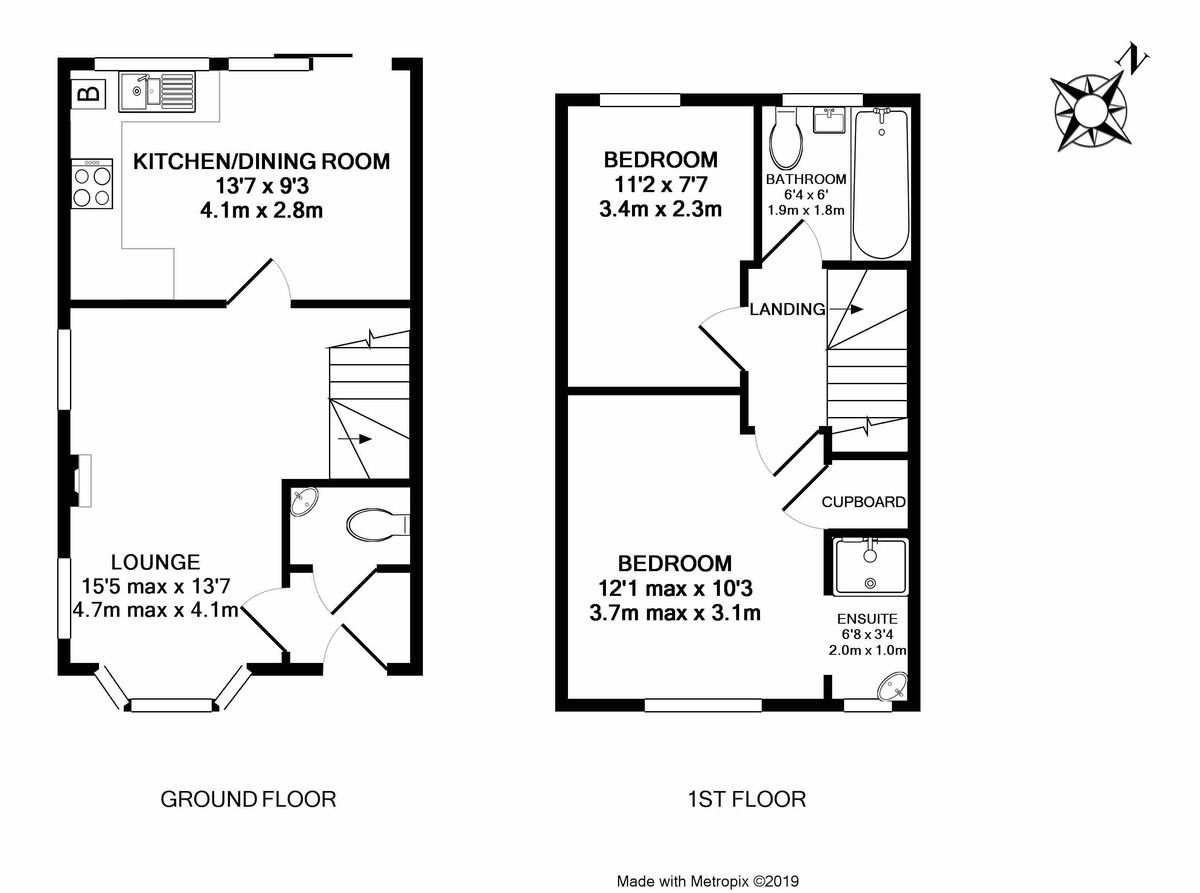 2 bed house to rent in Sovereign Court, Clyst Heath - Property Floorplan