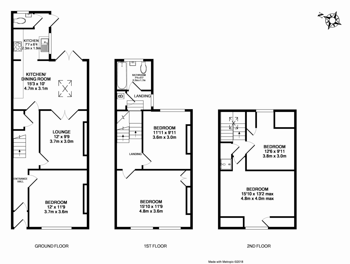 5 bed house for sale in Victoria Street, St James, Exeter - Property Floorplan