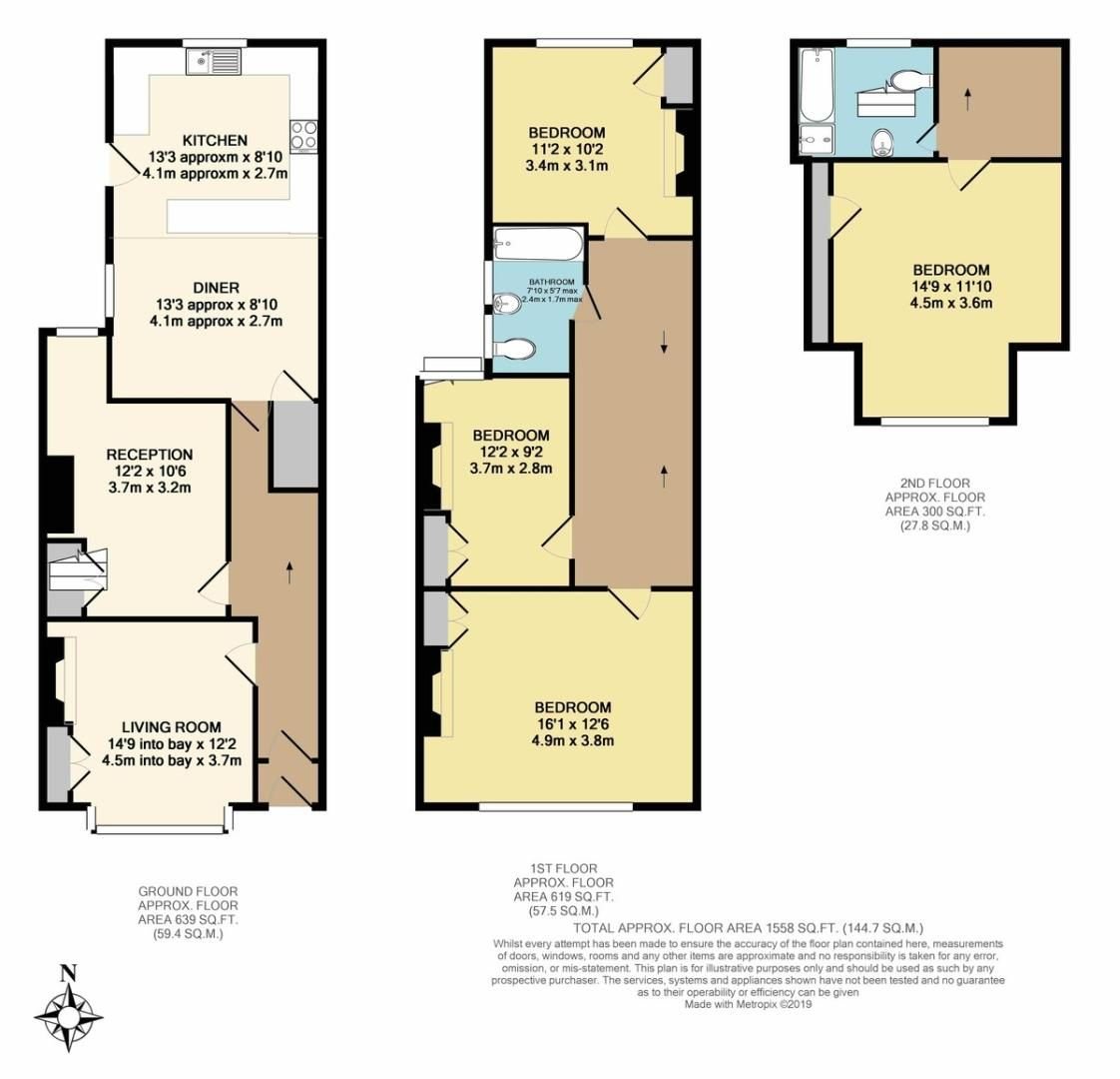 6 bed house for sale in Waverley Avenue, St James, Exeter - Property Floorplan