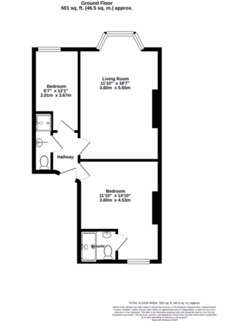 2 bed flat to rent in Northumberland Place, Teignmouth - Property Floorplan