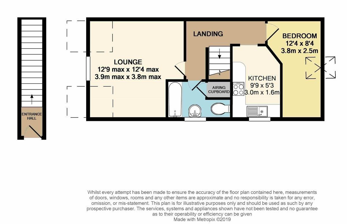 1 bed flat for sale in Friars Walk, St Leonards, Exeter - Property Floorplan