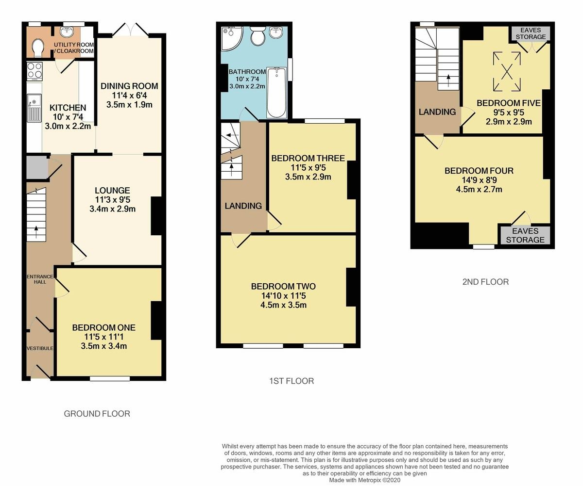 5 bed house for sale in Well Street SOLD STC in 7 DAYS , Exeter - Property Floorplan