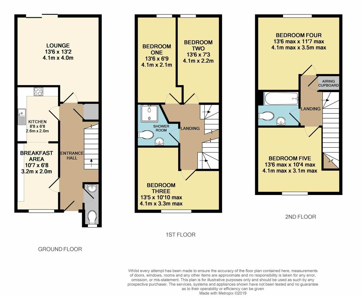 5 bed house for sale in Lower Argyll Road, Duryard, Exeter - Property Floorplan