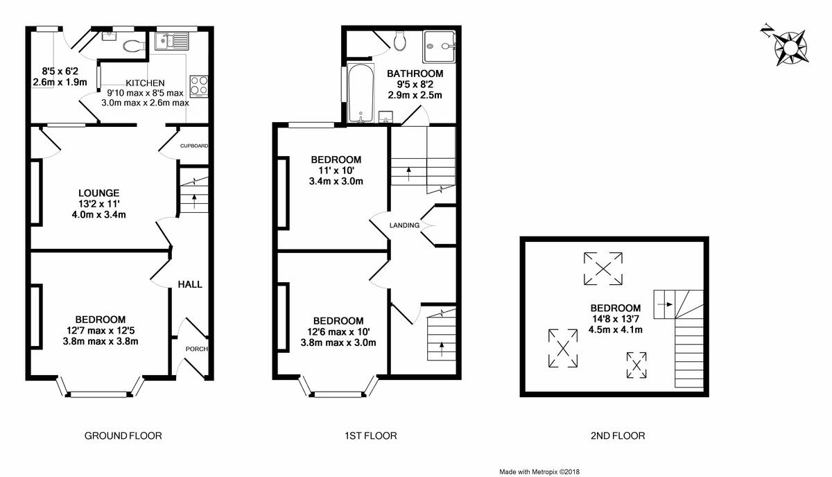 4 bed house for sale in Salisbury Road - SOLD STC in 7 DAYS - Property Floorplan