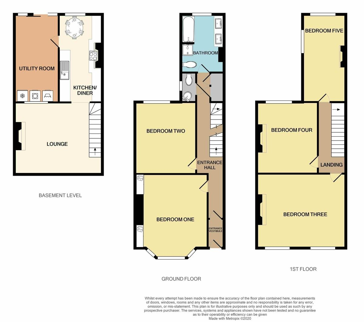 5 bed house for sale in Oxford Road, St James, Exeter - Property Floorplan