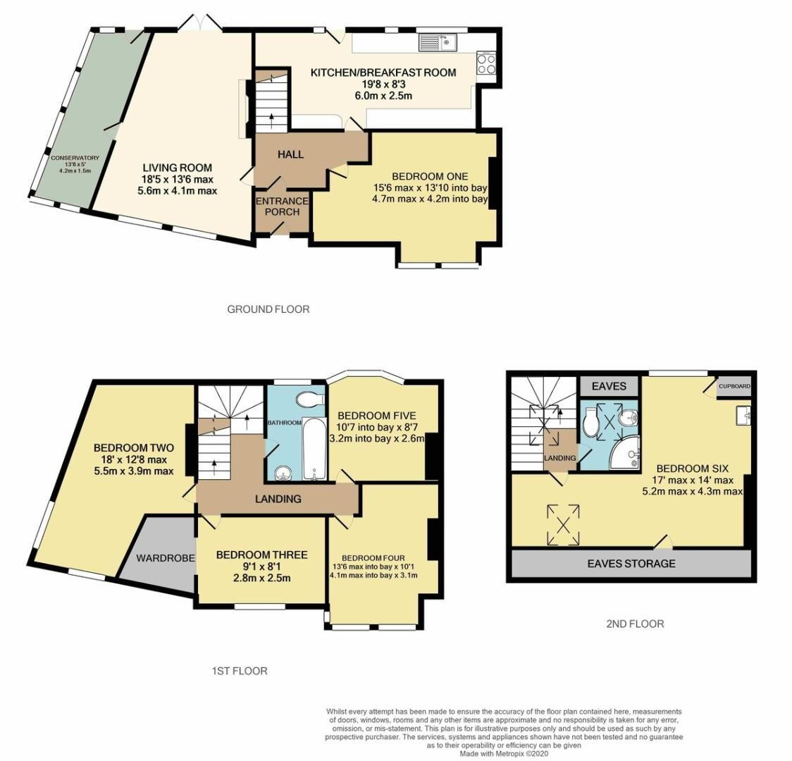 6 bed house for sale in Danes Road, Exeter - Property Floorplan