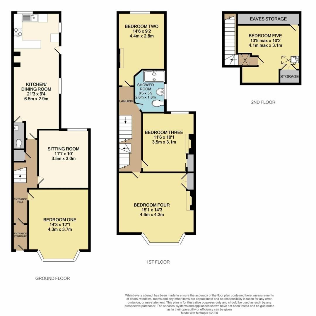 5 bed house for sale in Park Road, Mount Pleasant - Property Floorplan