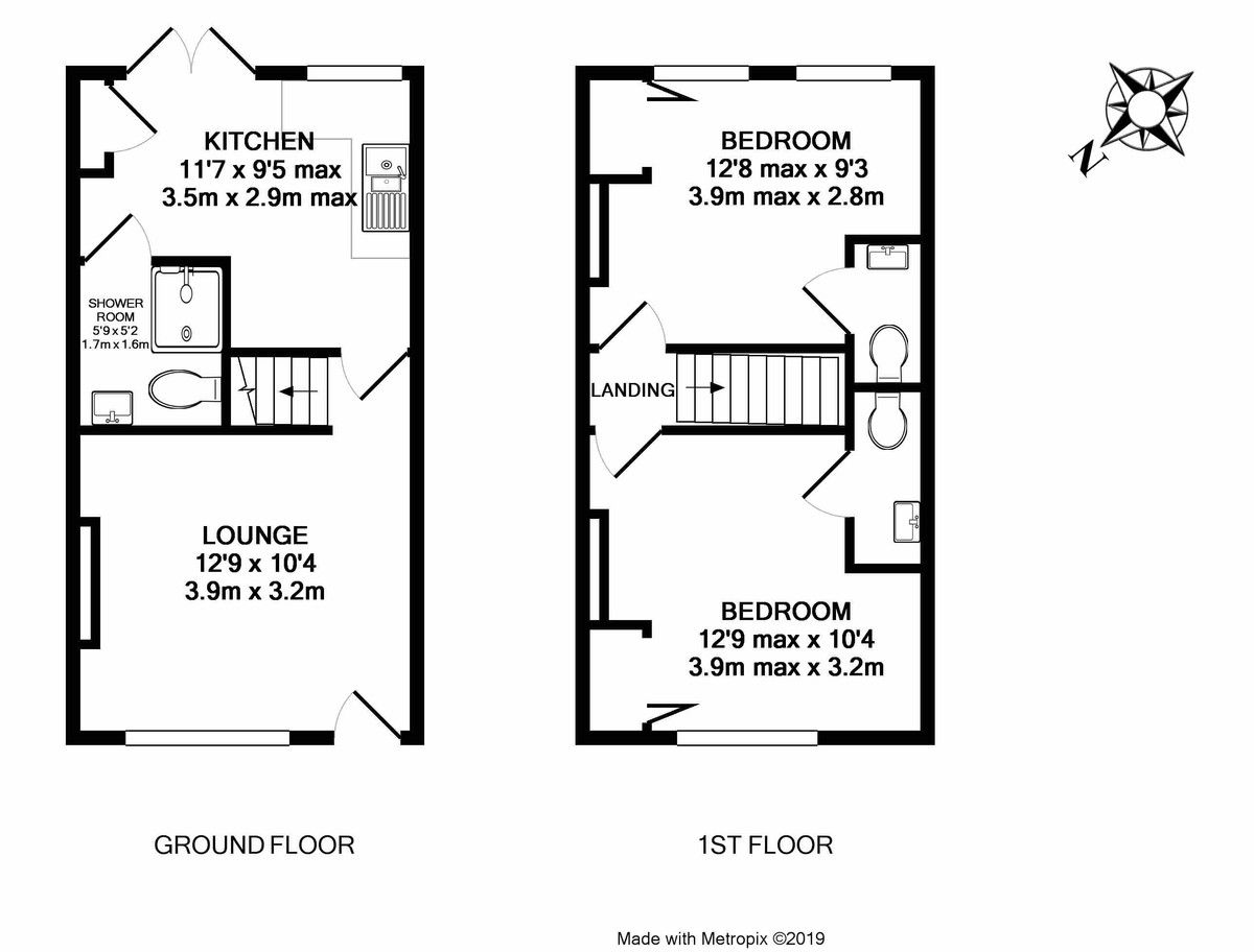 2 bed house for sale in St James, Exeter - Property Floorplan