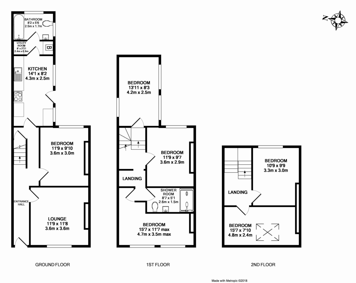 6 bed house for sale in Victoria Street, St James, Exeter - Property Floorplan