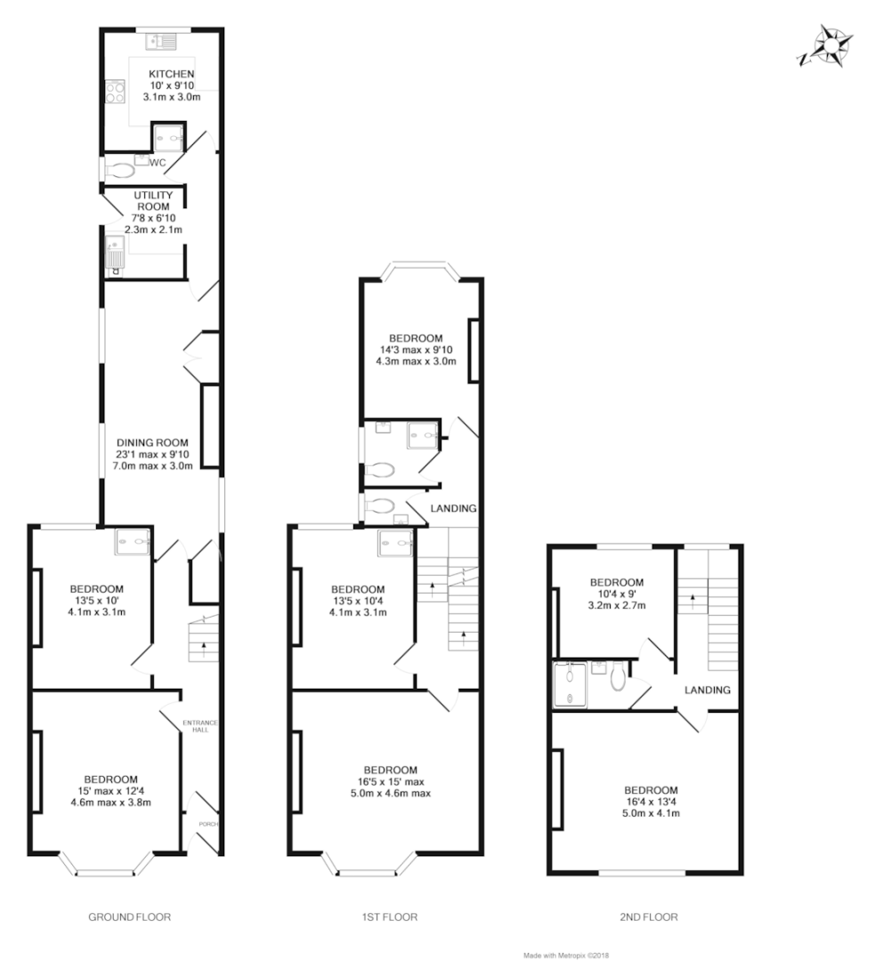 7 bed house for sale in Queens Crescent, St James, Exeter - Property Floorplan