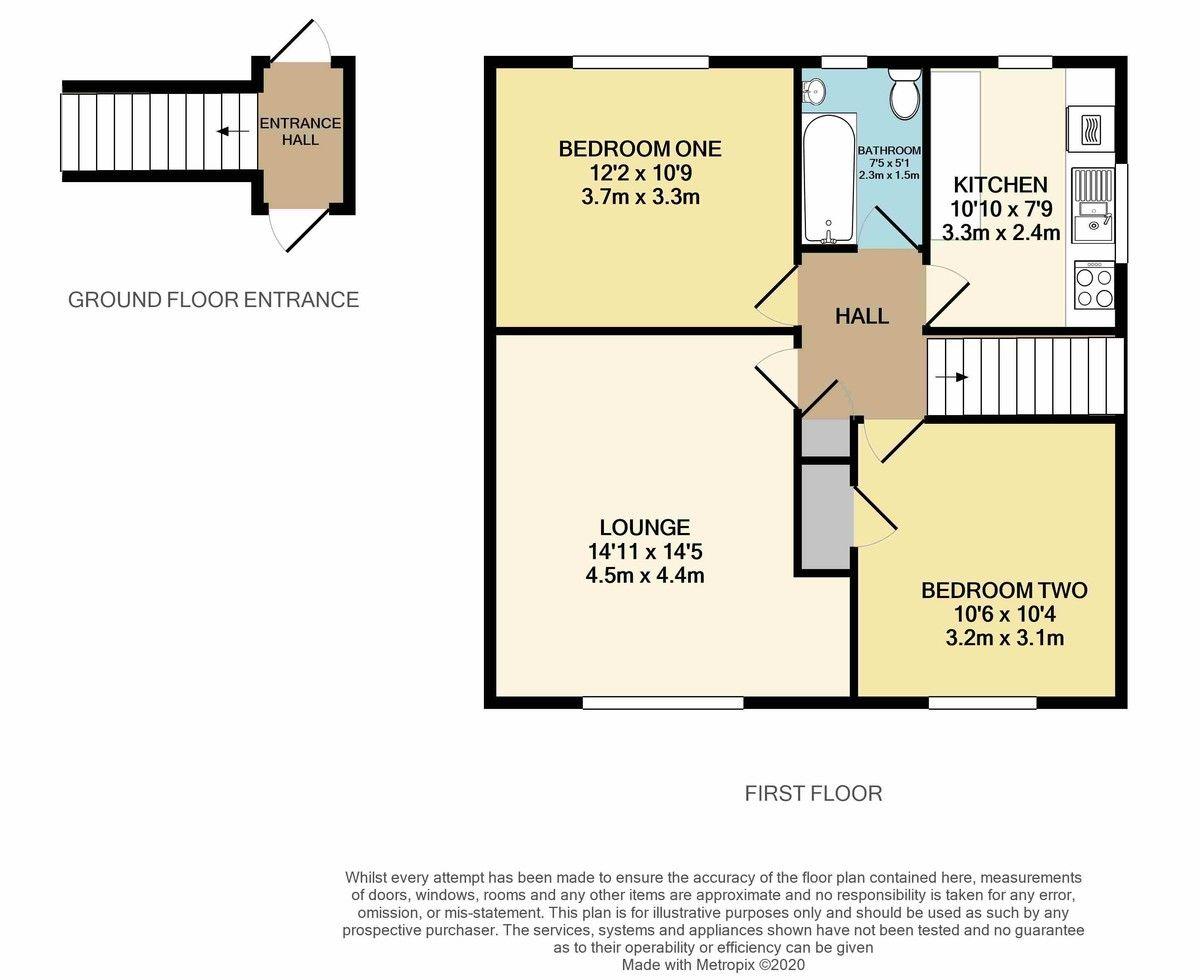 2 bed flat for sale in Churchill Avenue, Dawlish - Property Floorplan