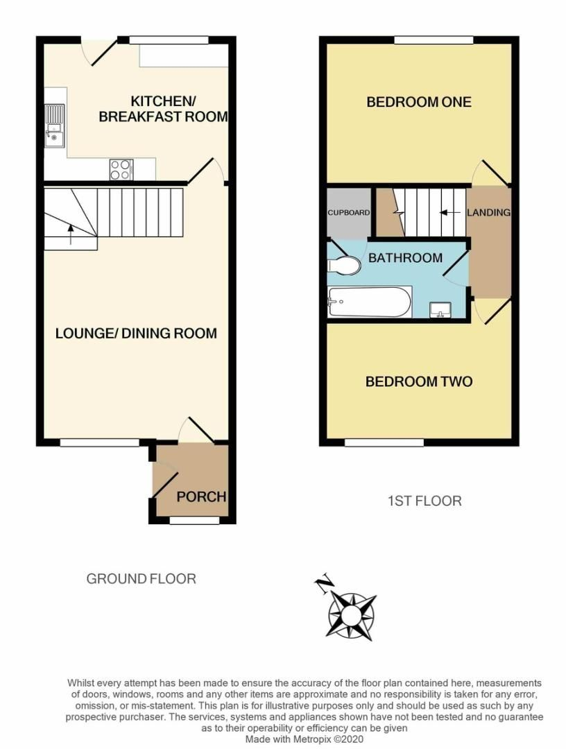 2 bed house for sale in Chantry Meadow, Alphington, Exeter - Property Floorplan