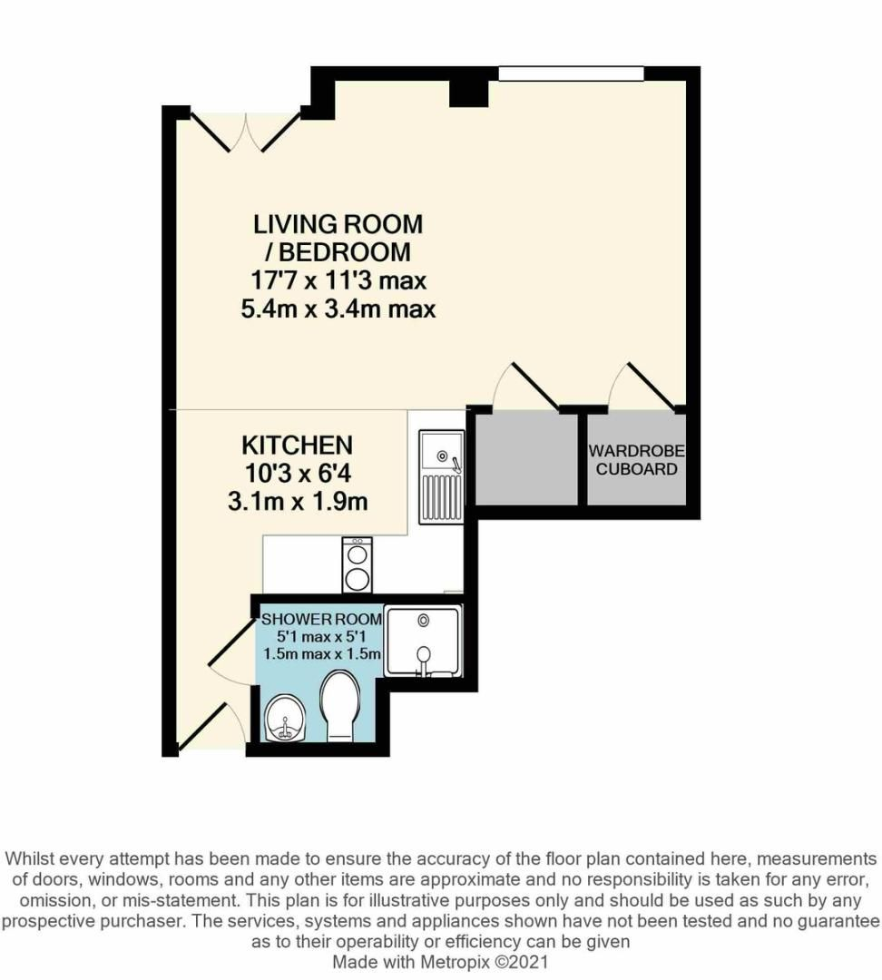 1 bed flat for sale in Augustus House, New North Road - Property Floorplan