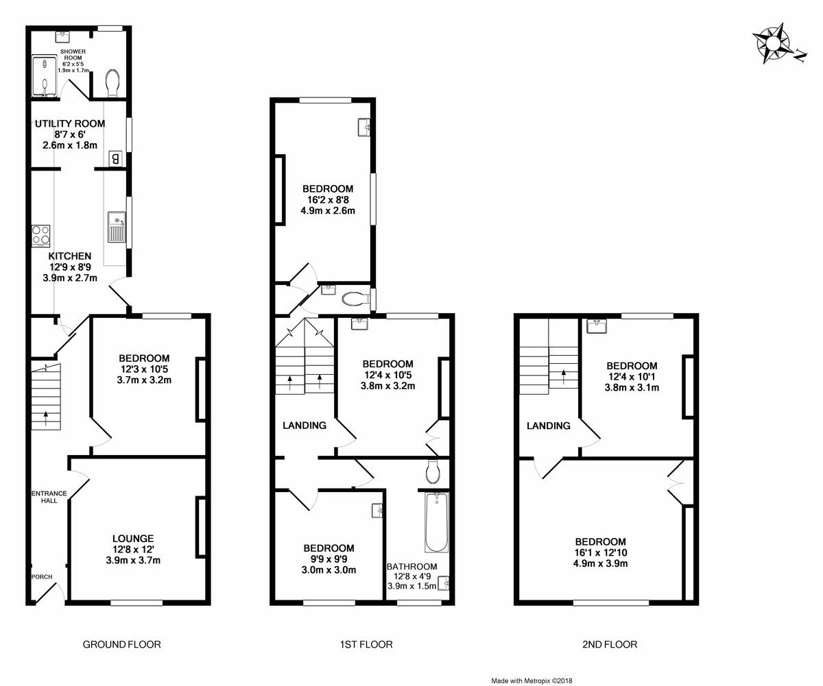 6 bed house to rent in Springfield Road, Exeter - Property Floorplan