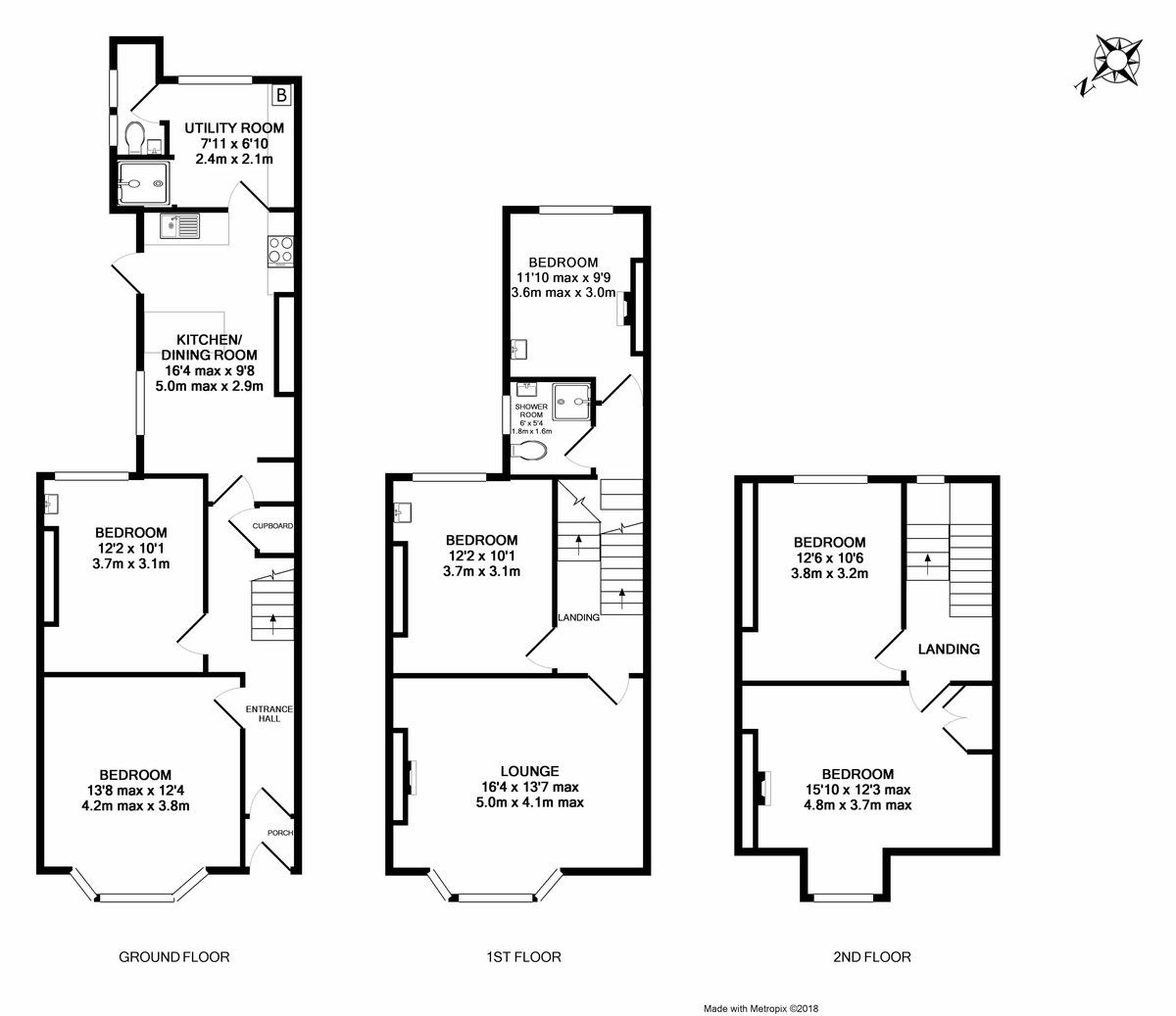6 bed house to rent in Oxford Road, Exeter - Property Floorplan