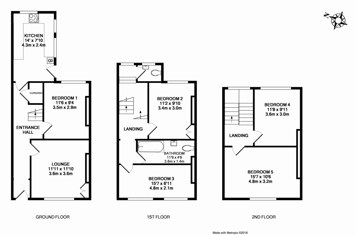 5 bed house to rent in Victoria Street, Exeter - Property Floorplan