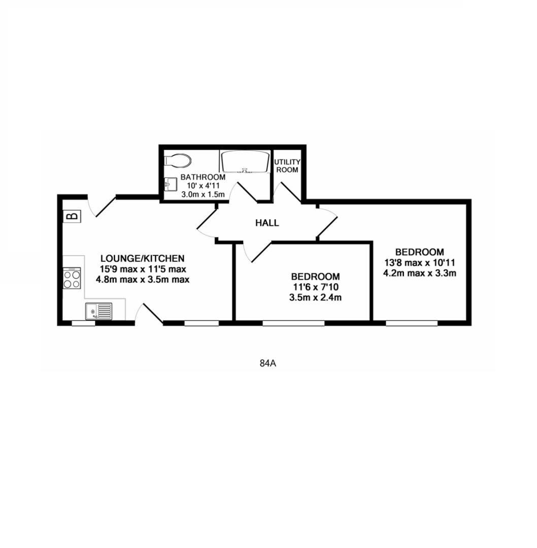 2 bed flat to rent in Union Road, Exeter - Property Floorplan