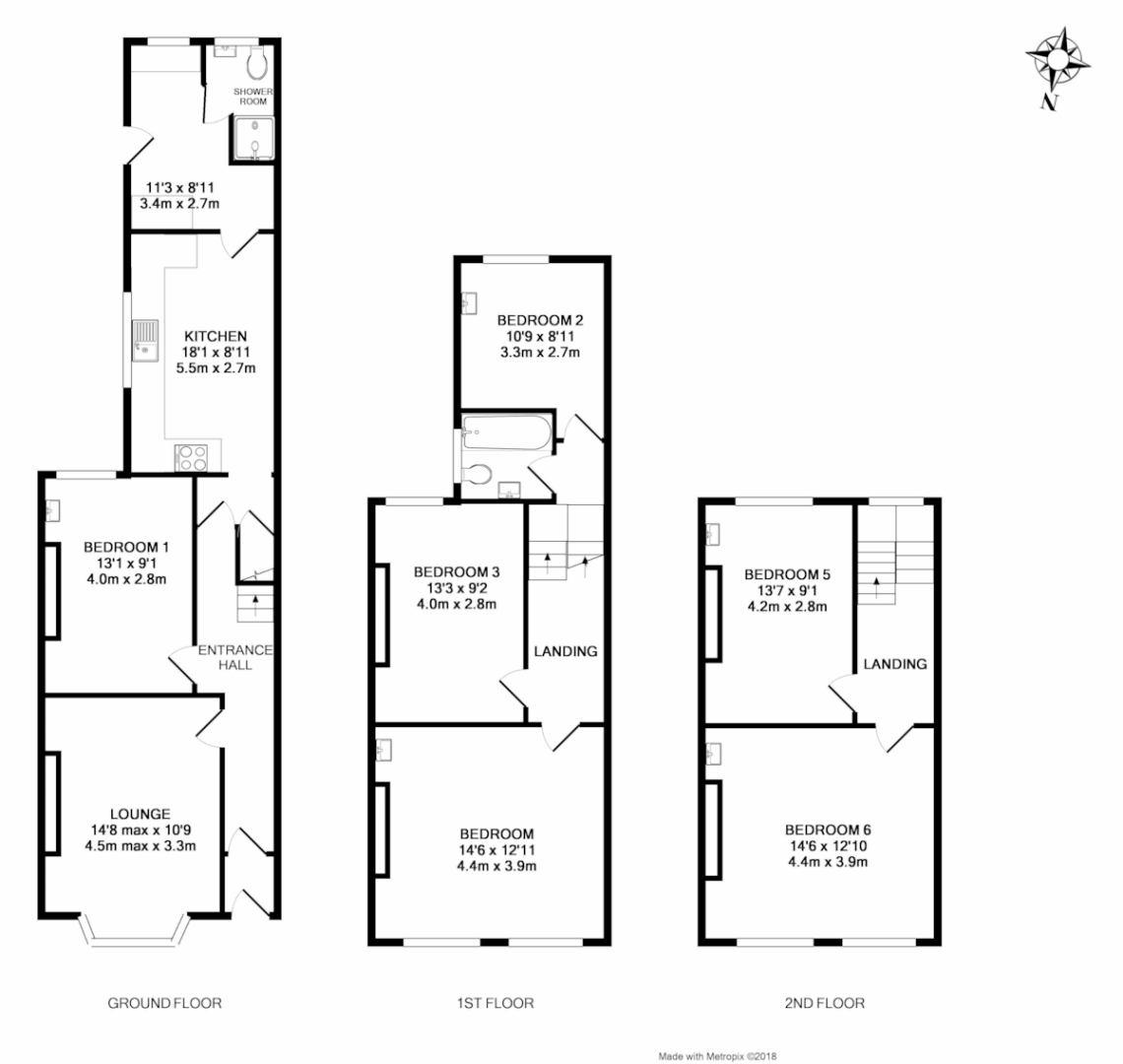 6 bed house to rent in Howell Road, Exeter - Property Floorplan
