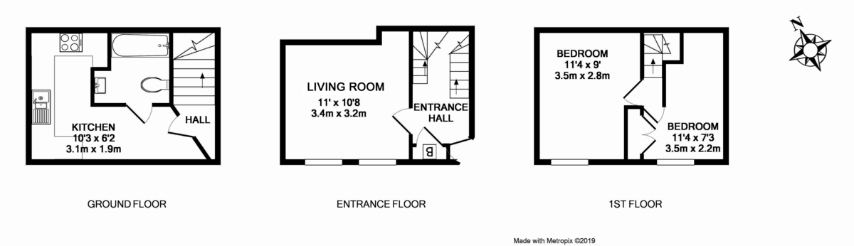 2 bed house to rent in King Street, Exeter - Property Floorplan
