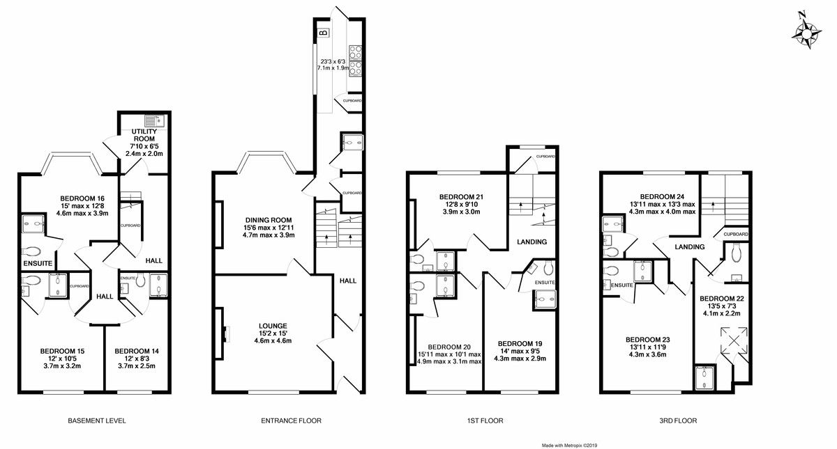 1 bed house to rent in Room @ Queens Terrace, Near Clock Tower - Property Floorplan