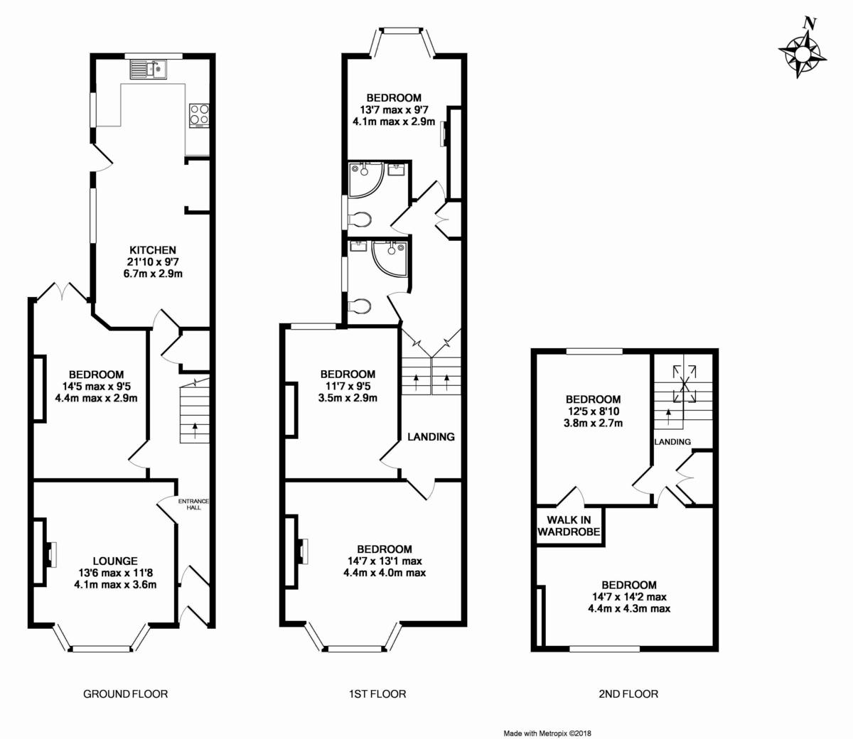6 bed house to rent in Sylvan Road - Property Floorplan