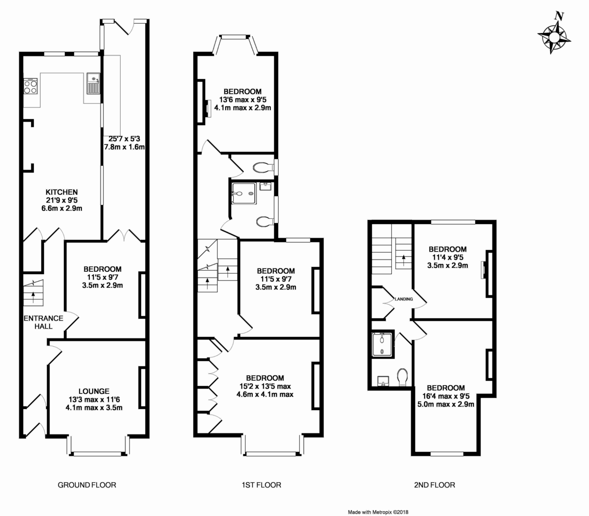 6 bed house to rent in Sylvan Road - Property Floorplan