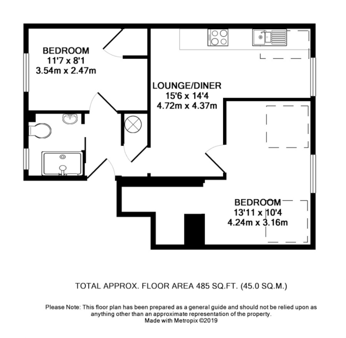 2 bed flat to rent in Longbrook Street, Exeter - Property Floorplan