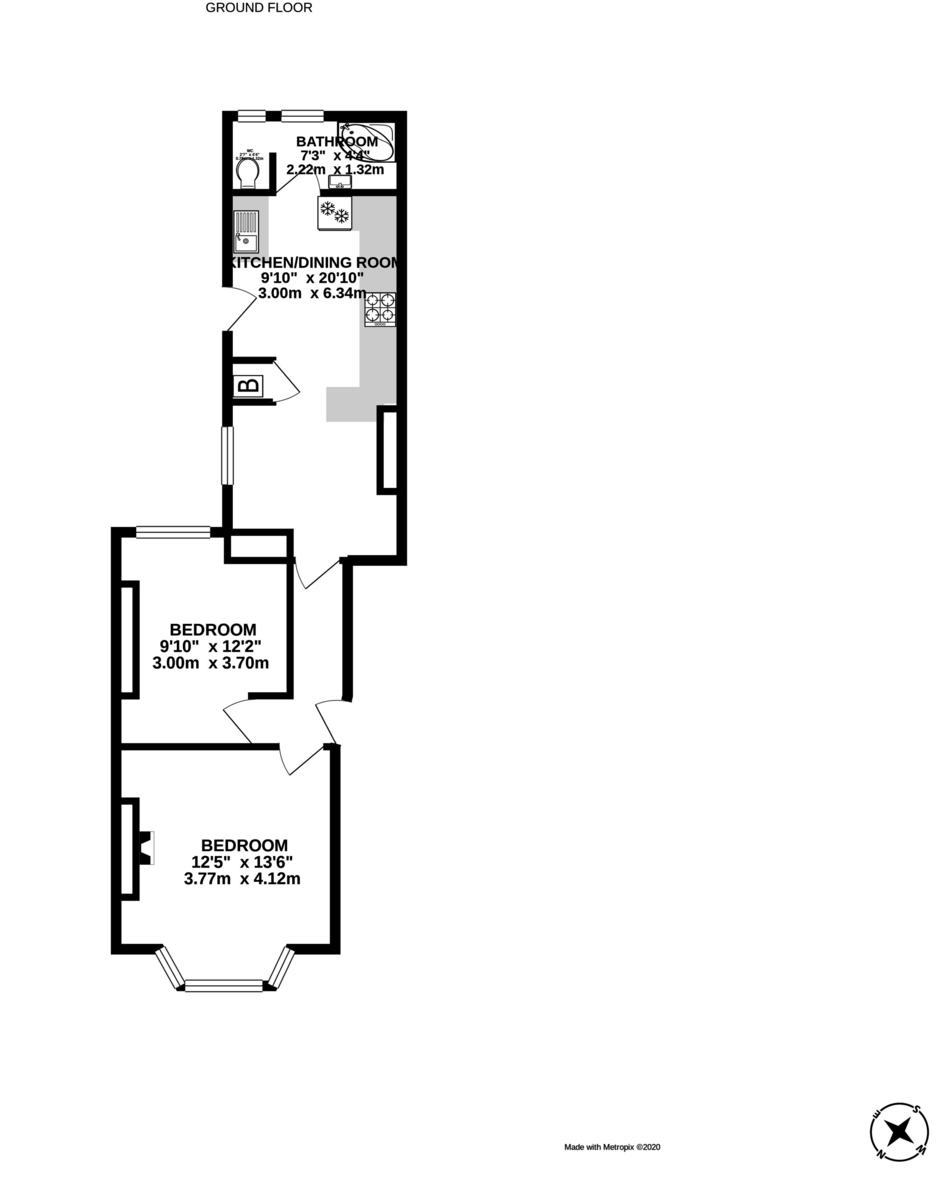 2 bed flat to rent - Property Floorplan