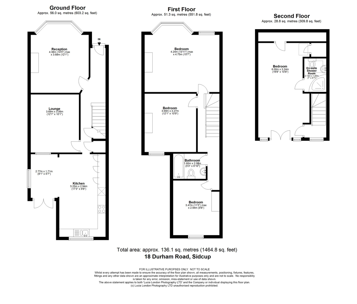 4 bed house for sale in Durham Road, Sidcup, DA14 - Property Floorplan