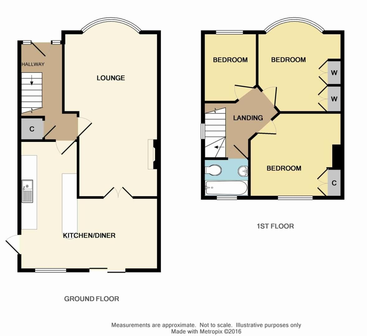 3 bed house for sale in Wren Road, Sidcup, DA14 - Property Floorplan