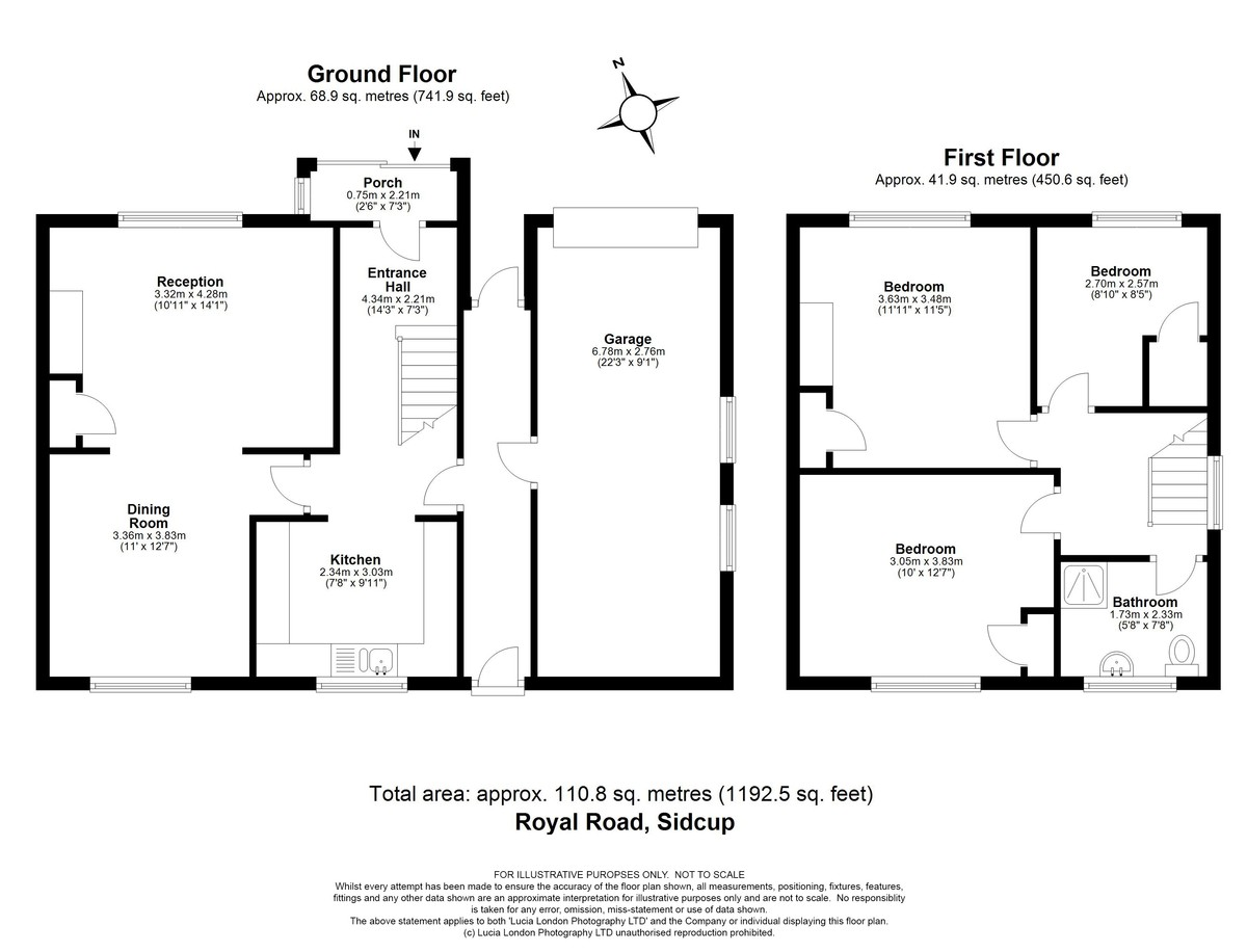 3 bed house for sale in Royal Road, Sidcup, DA14 - Property Floorplan