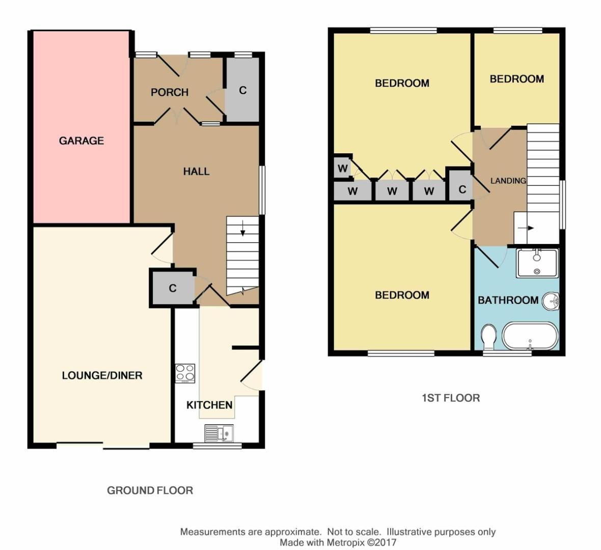 3 bed house for sale in Woodside Crescent, Sidcup, DA15 - Property Floorplan