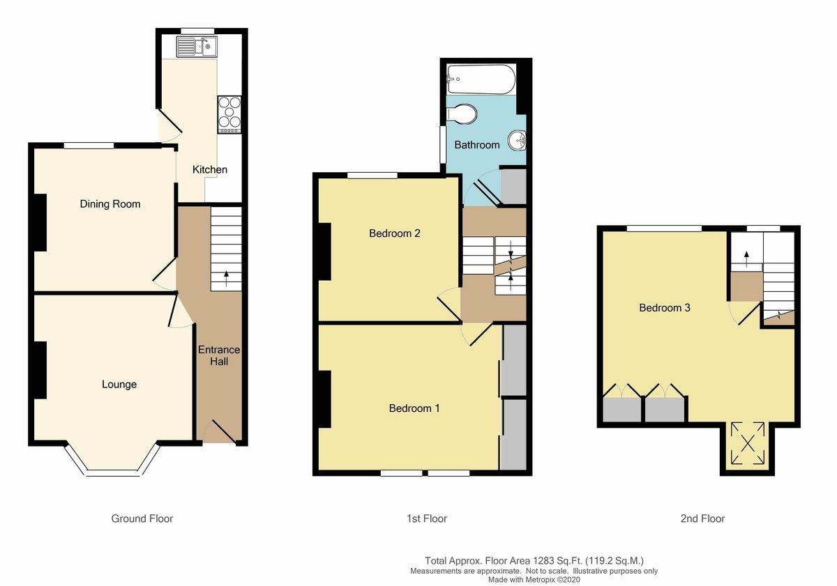 3 bed house for sale in Lincoln Road, Sidcup, DA14 - Property Floorplan