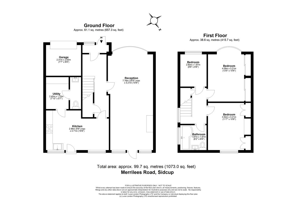 3 bed house for sale in Merrilees Road, Sidcup, DA15 - Property Floorplan