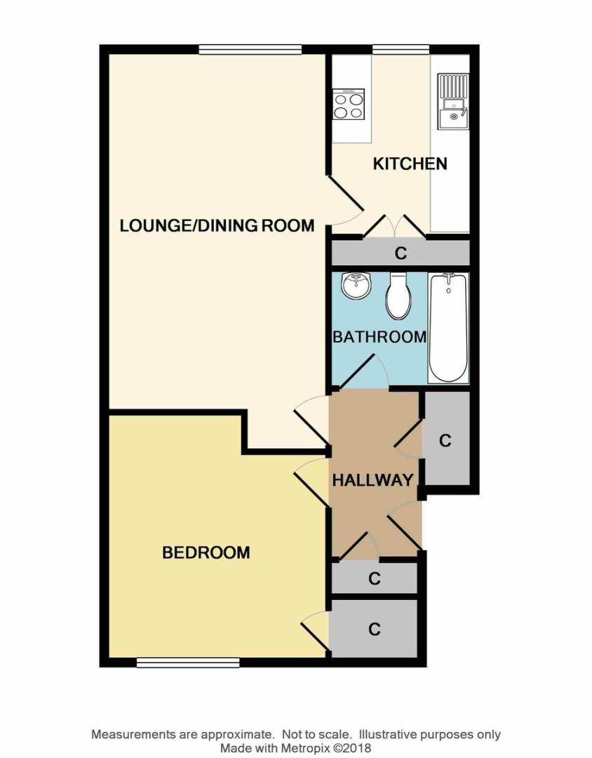 1 bed flat for sale in Carlton Road, Sidcup, DA15 - Property Floorplan