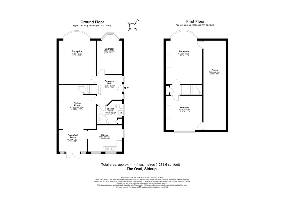 3 bed house for sale in The Oval, Sidcup, DA15 - Property Floorplan